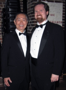 Robert A. Taylor with George Takei at Arkansas Symphony Orchestra